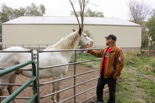 Chris Reder with horse