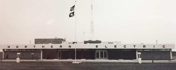 Historic photo of Northern Electric office in Bath, SD